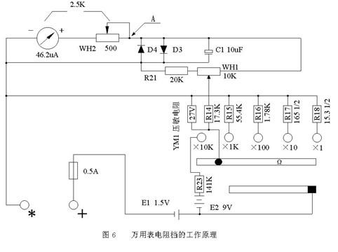 对mf47-6型万用表电路设计原理的分析与探讨